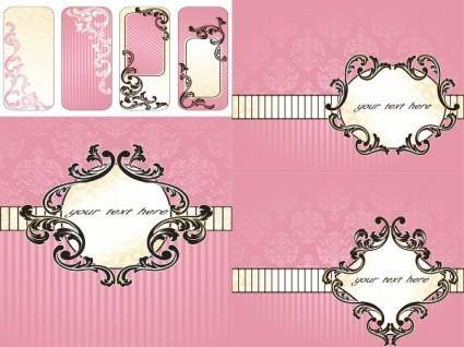Pink background pattern vector
