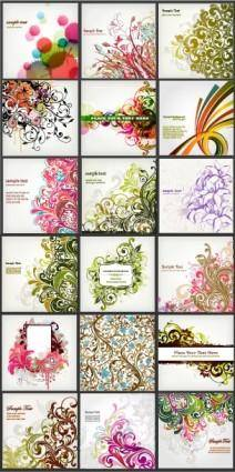 Background of a variety of beautiful fashion pattern vector
