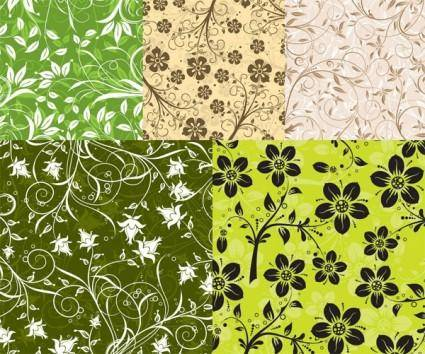 free vector 5 fashion pattern vector background