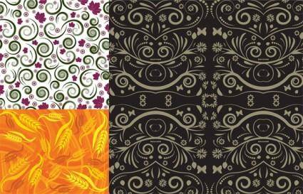 3 beautiful pattern vector background