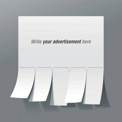 free vector Convenient advertising paper template 01 vector