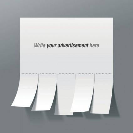 Convenient advertising paper template 01 vector