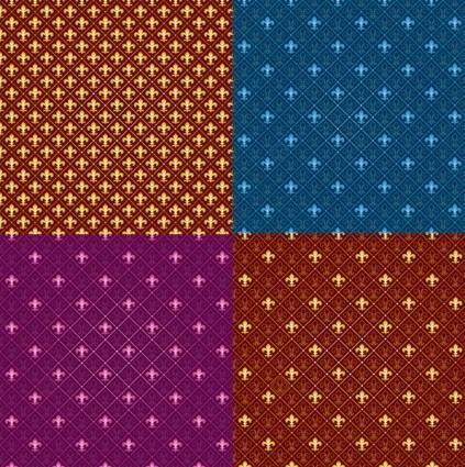 Tiled background pattern vector fashion