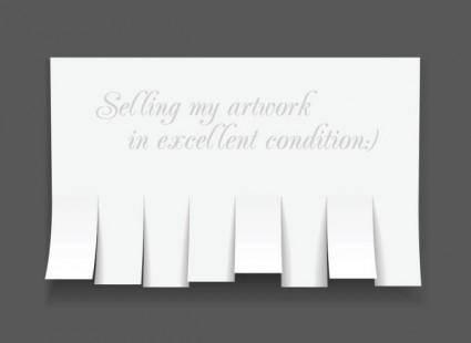 Convenient advertising paper template 02 vector