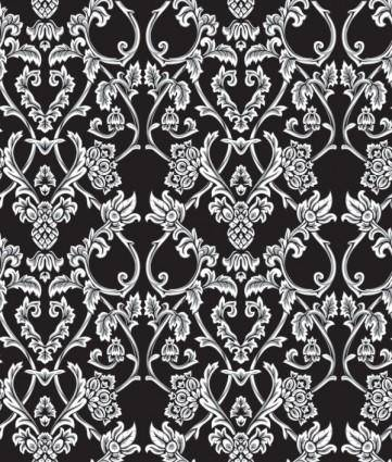 Classical traditional floral pattern background 02 vector