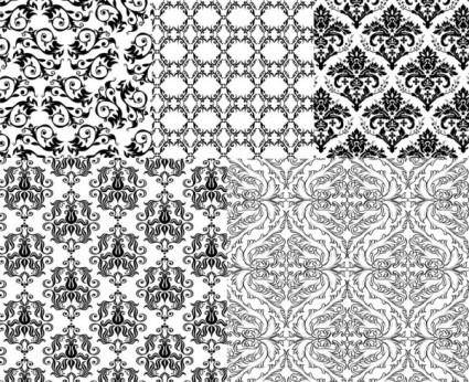 European background of black and white pattern vector