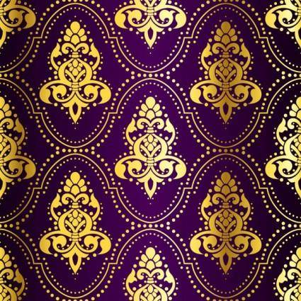 Fabric pattern vector ornate background 1