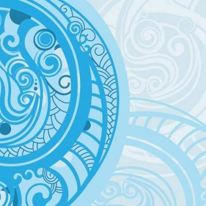 free vector Spiral pattern background 01 vector