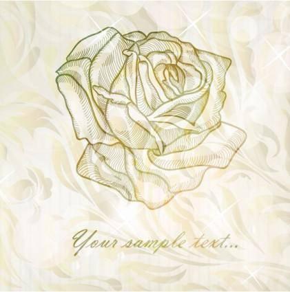 Elegant rose pattern background 03 vector