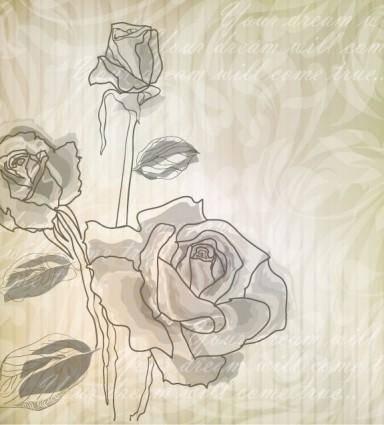 free vector Elegant rose pattern background 04 vector