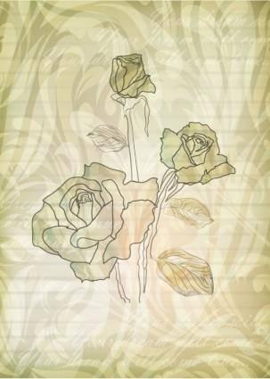 free vector Elegant rose pattern background 05 vector