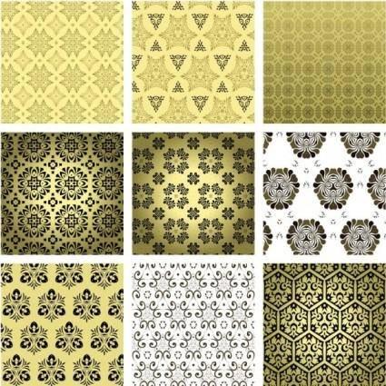free vector European fine background pattern 02 vector