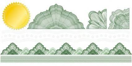 Decorative background pattern 01 vector