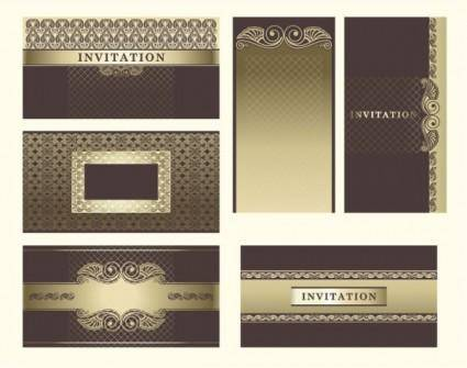 free vector Exquisite europeanstyle pattern background 03 vector