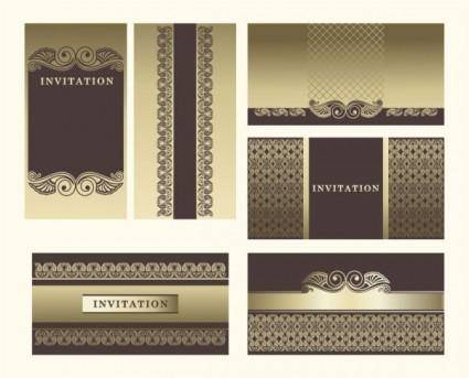 Exquisite europeanstyle pattern background 04 vector
