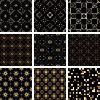 free vector Gold pattern background vector