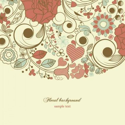 Elegant floral background pattern 03 vector
