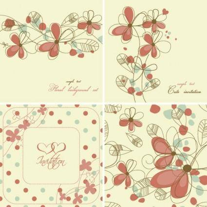 Elegant floral background pattern 04 vector