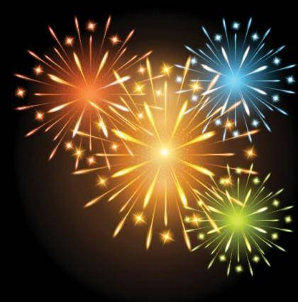 free vector Fireworks effect 01 vector