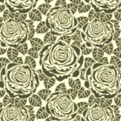 Rose pattern background 01 vector