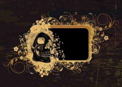 free vector Skeleton pattern background 03 vector