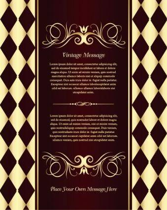 free vector Classic european pattern background 05 vector