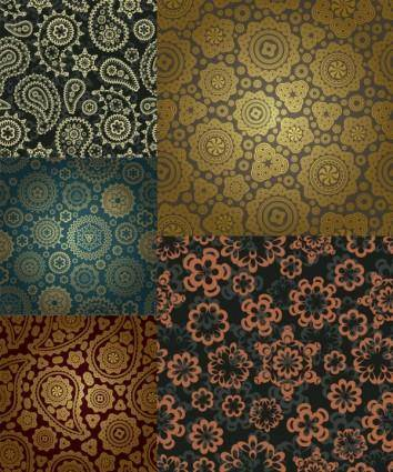 free vector Gorgeous classic pattern background vector