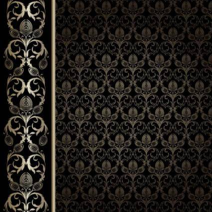free vector European gorgeous wallpaper background pattern vector