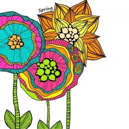Beautiful handpainted pattern background 05 vector