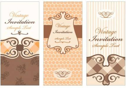 European pattern background 01 vector