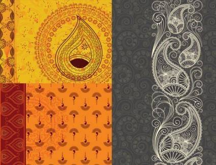 India ham pattern vector background