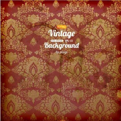 Retro pattern background 02 vector