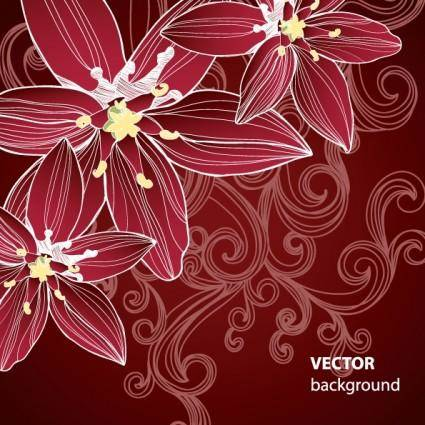 free vector Gorgeous pattern background 05 vector