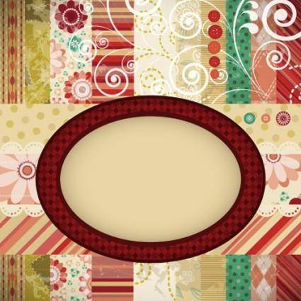 Patchwork pattern background 01 vector