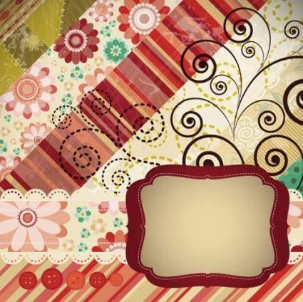 free vector Patchwork pattern background 03 vector