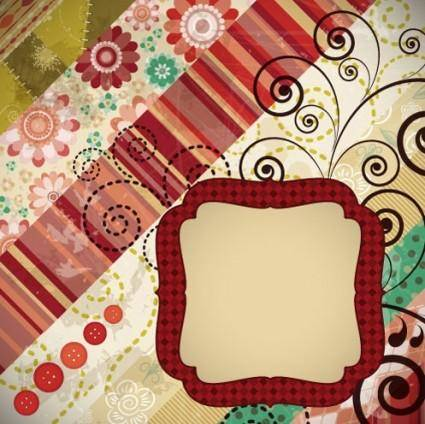 Patchwork pattern background 04 vector