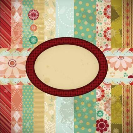 Patchwork pattern background 05 vector