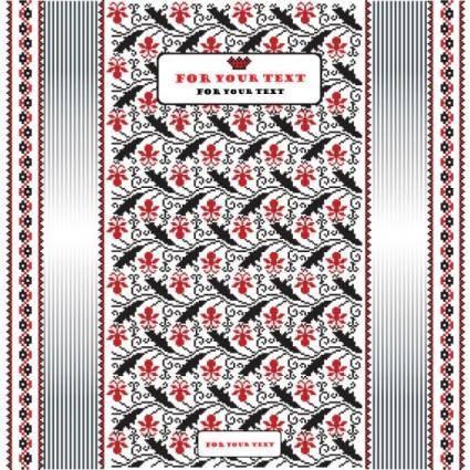 Pixel art pattern background 02 vector