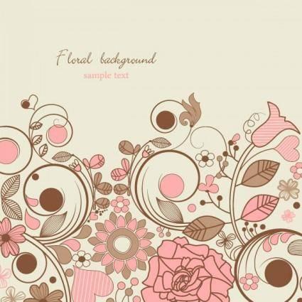 free vector Elegant floral background pattern 05 vector