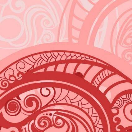 free vector Spiral pattern background 02 vector