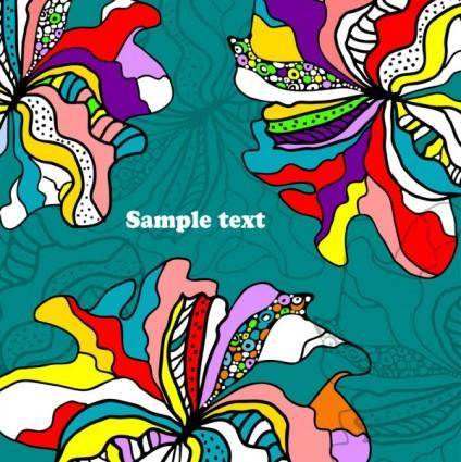 free vector Beautiful handpainted background pattern 01 vector