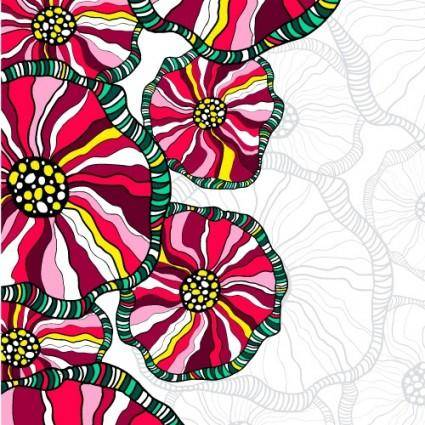 Beautiful handpainted pattern background 04 vector