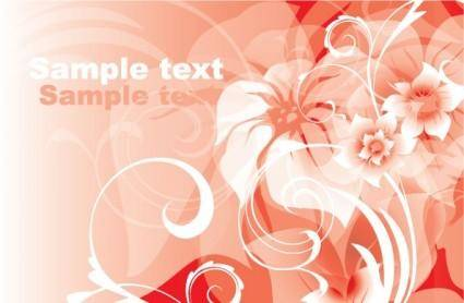 free vector Gorgeous red background pattern 01 vector
