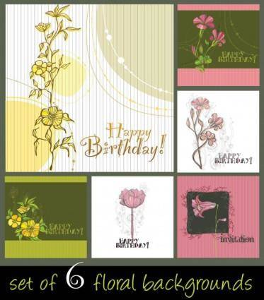 Elegant handpainted background pattern 01 vector