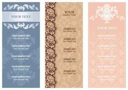 Menu background pattern 01 vector