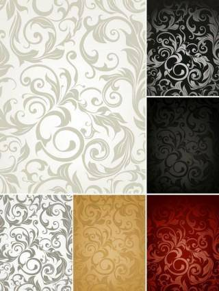 Fine pattern background 04 vector