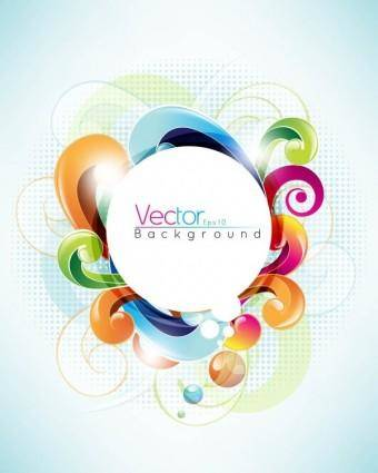 Symphony of dynamic pattern background 03 vector