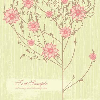 free vector Exquisite handpainted pattern background 03 vector