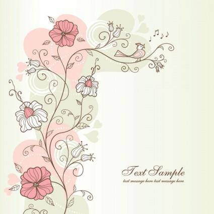 free vector Exquisite handpainted pattern background 04 vector