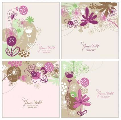 free vector Handpainted pattern background 02 vector